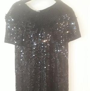 Vintage Liz Claiborne black sequined dress
